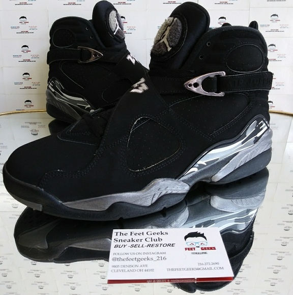 buy online 9f7df da572 Nike Air Jordan 8 Retro Chrome Men's Shoes Size 9